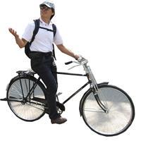 鄭晃二的單車日記(圖/總務處提供)