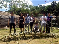 建築系師生於6/11起在淡水海關碼頭草坪展出「竹構藝術工程」