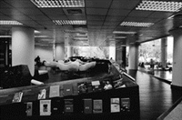 圖書館時常舉辦豐富的主題書展和講座,讓學生閱讀「閱」愉快。圖為閱活區。(攝影�王文彥)