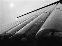 能光中心的真空管式太陽能集熱設備。(攝影�劉瀚之)
