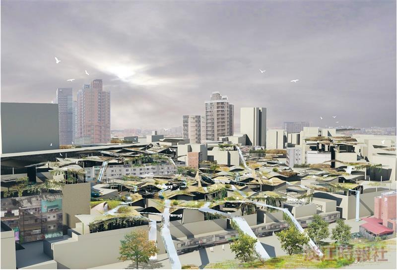 建築系畢業校友賴嘉豪結合綠色環保為設計,以「地衣建築」作品參與美國「d3 Natural Systems 2011」獲世界第2,成績亮眼,在國際嶄露頭角。(圖片來源:http://www.d3space.org/competitions/)