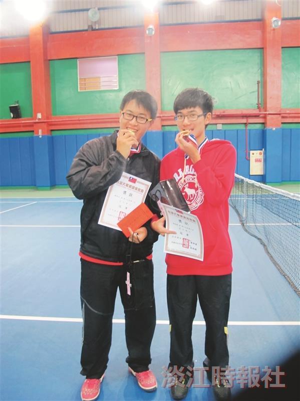 網球校隊賴祥瑞 林瑞德 臺灣大專網球排名賽 雙打奪金