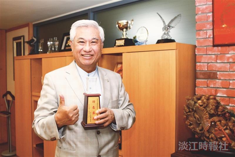 穩懋半導體董事長 陳進財回饋母校共育會計人才