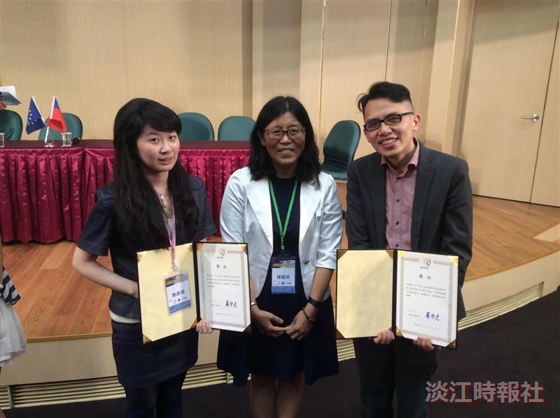 2生獲歐盟研究全國最佳論文獎。(圖/陳麗娟提供)
