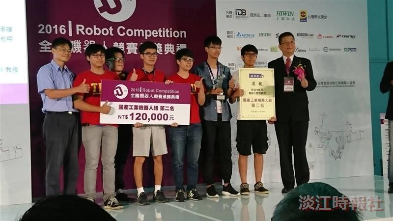 上銀Intelligence機器手 電機三連霸 機電 全國機器人雙賽抱四獎