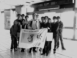 運管系副教授辛其亮於2008年12月8日帶領同學至台北捷運公司參訪。(圖�運管系提供)