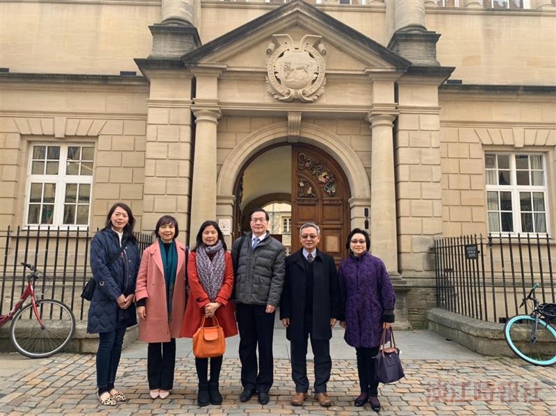 葛校長率團訪歐洲姊妹校