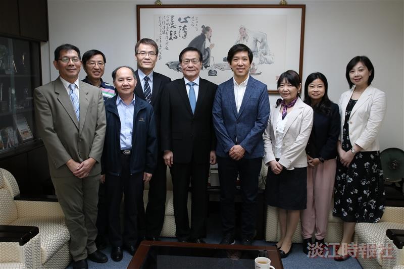 文學院熊貓講者林暐 拜會葛校長、張董事長