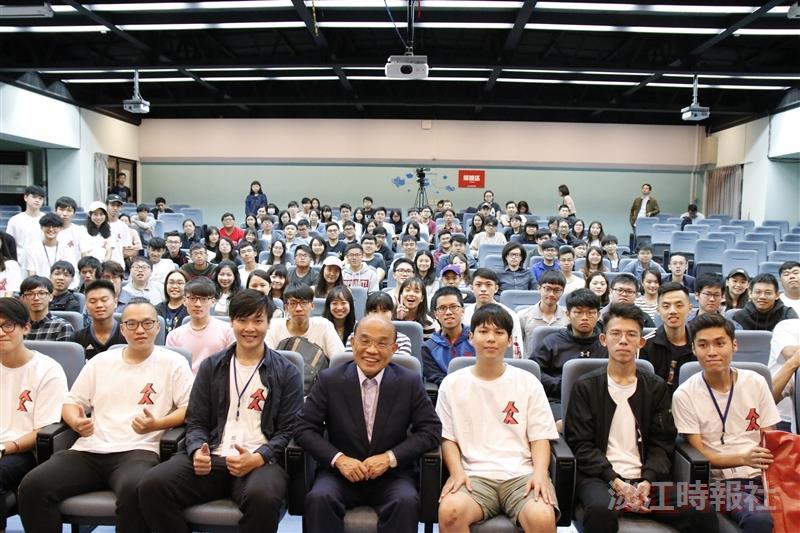 學生會公民計畫邀蘇貞昌演講