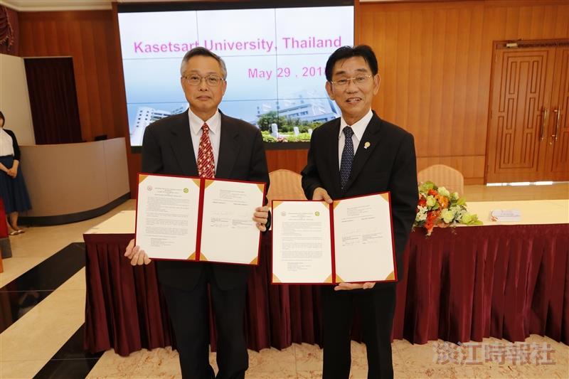 泰國農業大學來校簽第207所姊妹校