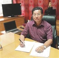 印尼留臺淡江校友呂世典 經營鋅板廠有成 感恩母校