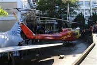 UH-1H救護直升機遊入淡江