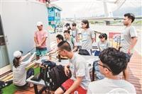 體育課攜手水上活動社 社子島體驗飆水樂趣