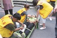 商管大樓演練避難救護