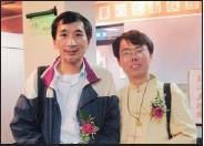侯裕隆(左)、吳俊男(右)參加玉山文學獎,分獲古典詩第1名及佳作。(圖�吳俊男提供)