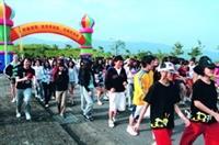 蘭陽校園舉辦路跑活動,師生攜手健身,也促進情誼。