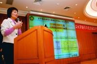 台中榮民總醫院護理長歐香縫專題演講台中榮總推動醫品圈的心得。