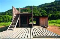 校友陳右昇建置的「台北三芝陳宅」,榮獲世界建築社群獎。(圖�陳右昇提供)