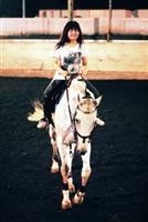 同學體驗乘馬奔馳的樂趣。