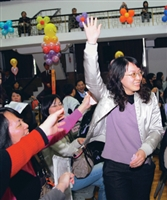 """Weng Shin-yi, an alumni of TKU participated in the """"Spring Festival"""" and won the first prize."""