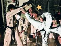 跆拳道社在社團之夜,帶來驚險的擊破表演,精采的社團表演,獲得同學滿堂彩。