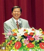 前教育部長楊朝祥為大會引言。(陳振堂攝)