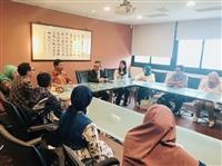 印尼艾爾朗加大學社會科學院來訪,拜會國副
