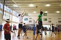 數學系友盃3/20在體育館4樓舉辦排球和羽球賽