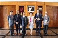 5/29歐盟經貿辦事處處長高哲夫、臺灣歐盟中心主任蘇宏達來訪