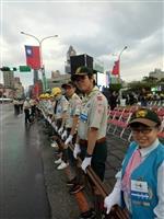 童軍團前進國慶服務