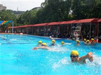 水上救生社深水池訓練