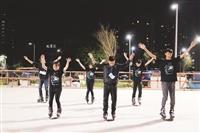 溜冰社迎新 幹部表演展特殊技巧
