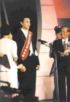 大傳三李光第獲選第十屆中華民國大學先生,從容不迫地發表得獎感言。(向雲暉攝)