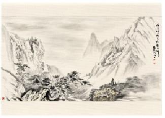 e筆書畫展 :溪谷奇松