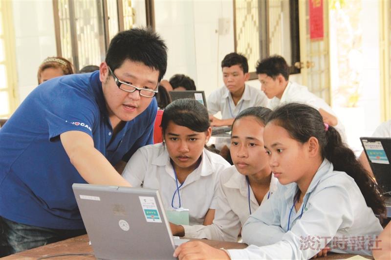 服務深耕柬埔寨 設電腦教室 學習環境UP