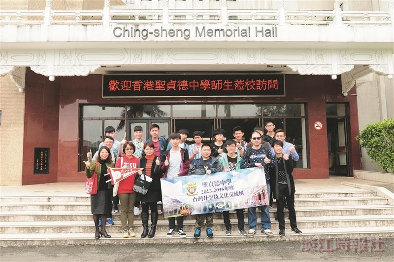 香港3中學來訪 欣賞校內體育多元設施