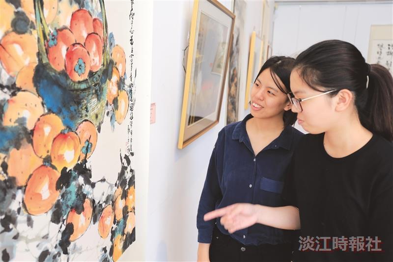 【66週年校慶】淡江美展開展 展出7旬書畫家作品