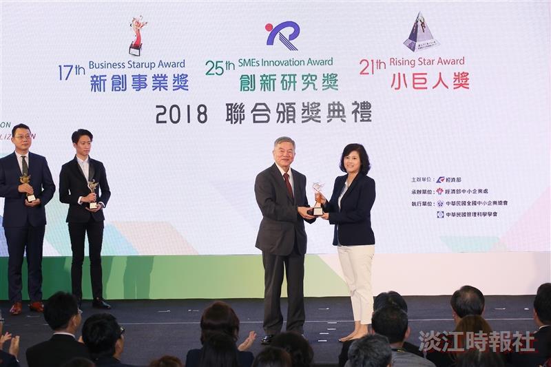 大傳校友林慧珍獲2018經濟部新創事業獎評審特別獎