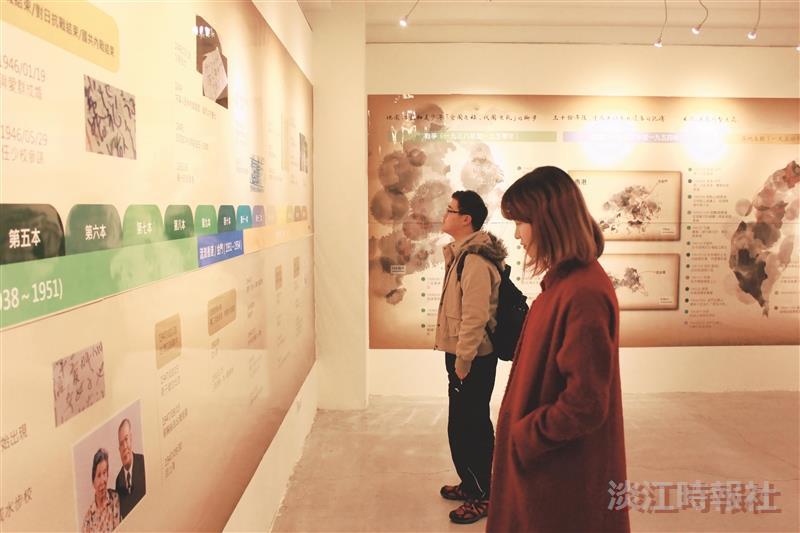 上週,黑天鵝展示廳的「複寫記憶」服務學習專案成果展圓滿落幕,資傳系以「老先生的18本日記」為題,呈現日記主人李子斌先生的人生故事。(攝影/李建旻)