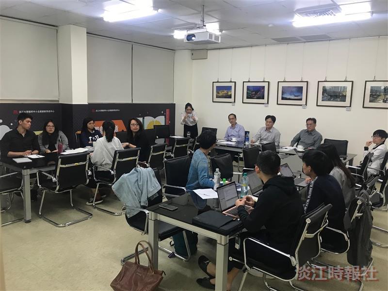 育成中心淡江五虎創業進度報告