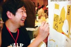 近200位亞洲地區漫畫創作者參加2009第十屆ICC國際漫畫家大會,並當場揮筆創作簽名。(攝影�吳佳玲)