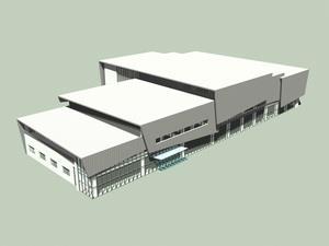 蘭陽校園活動中心3D透視圖。(圖�徐維志提供)