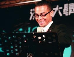 外籍生和交換生致詞代表在歡送會中,發表淡江4年的生活心得,其中一位致詞代表為來自貝里斯韋恩利立。(攝影�鄭雅文)