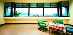 王宇平喜歡的校園角落─覺生綜合大樓8樓。(圖�黃士航)
