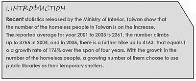 前言:台灣遊民人數節節升高。