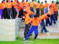 學員在活動中學習團體生活。(91淡海同舟)