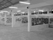 「彩繪淡水情」是由淡水鎮內十六所中小學所繪之八十公尺長畫聯展作品。