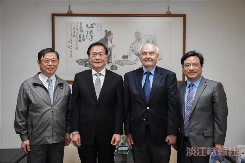 管科系熊貓講座講者拜會葛校長、拜訪董事長