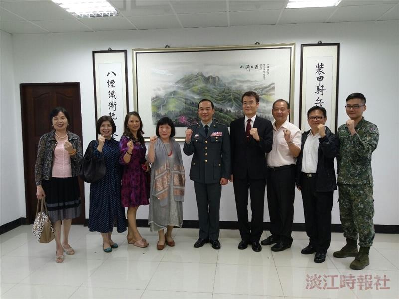 秘書長出席關渡指揮部典藏田美秋畫作揭畫儀式