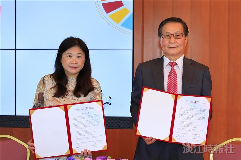 出席「淡江大學與台灣藝術創生文化基金會簽約典禮」